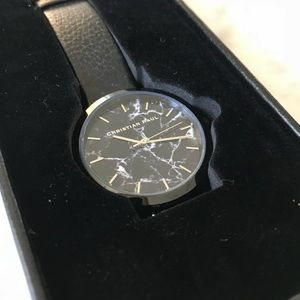 The Strand Marble Christian Paul watch (black)